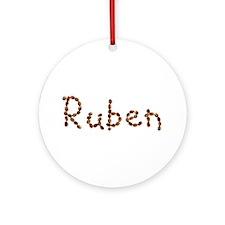 Ruben Coffee Beans Round Ornament
