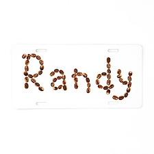 Randy Coffee Beans Aluminum License Plate