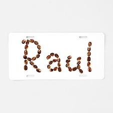 Raul Coffee Beans Aluminum License Plate