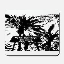 BlacknWhite Palm Springs sign Mousepad