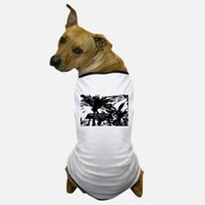 BlacknWhite Palm Springs sign Dog T-Shirt