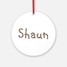 Shaun Coffee Beans Round Ornament