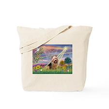 Cloud Angel Aussie Terrier Tote Bag
