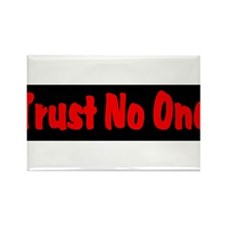 Trust No One red and black Rectangle Magnet