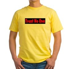 Trust No One red and black T