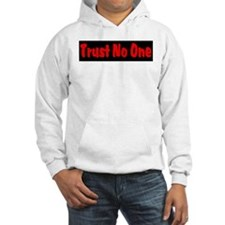 Trust No One red and black Hoodie