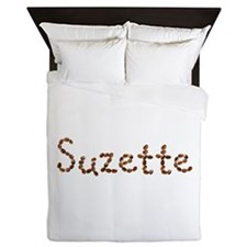 Suzette Coffee Beans Queen Duvet