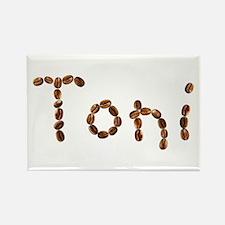 Toni Coffee Beans Rectangle Magnet