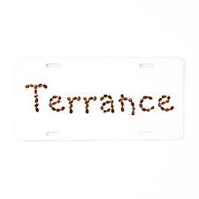 Terrance Coffee Beans Aluminum License Plate