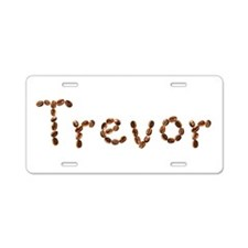 Trevor Coffee Beans Aluminum License Plate