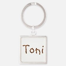 Toni Coffee Beans Square Keychain