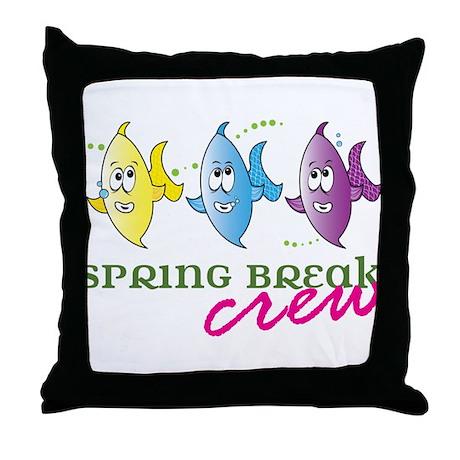 Spring Break Crew Throw Pillow