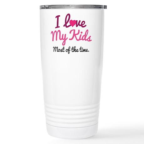 I Love My Kids Stainless Steel Travel Mug