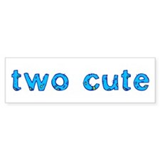 two cute Bumper Bumper Sticker