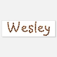 Wesley Coffee Beans Bumper Bumper Bumper Sticker