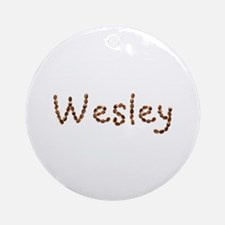Wesley Coffee Beans Round Ornament