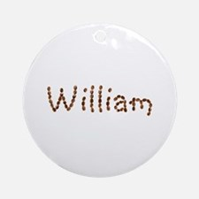 William Coffee Beans Round Ornament