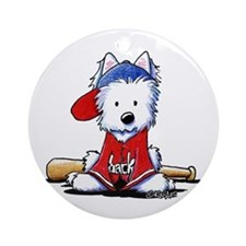 Westie Diamond In The Ruff Ornament (Round)