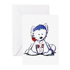 Westie Terrier Fan Greeting Cards (Pk of 20)