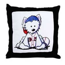 Westie Terrier Fan Throw Pillow