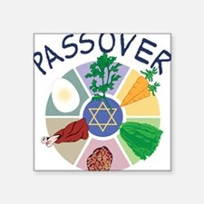 "Passover Square Sticker 3"" x 3"""