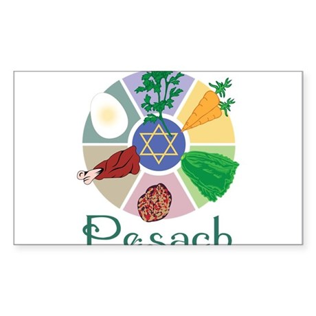 Pesach Sticker (Rectangle)