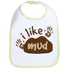 I Like Mud Boys Bib