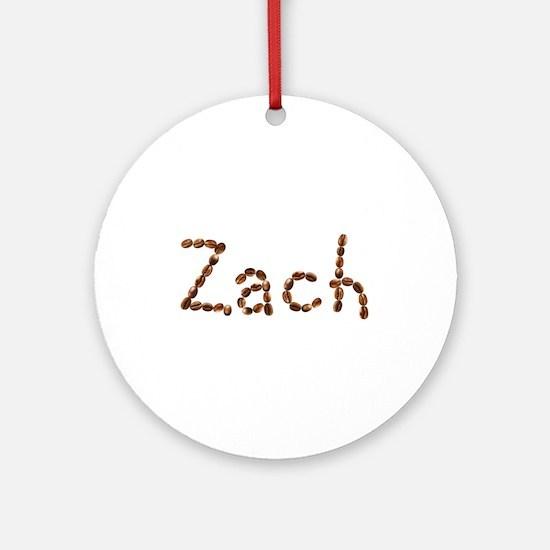 Zach Coffee Beans Round Ornament