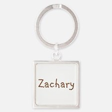 Zachary Coffee Beans Square Keychain