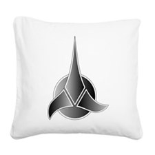 Klingon symbol 3.png Square Canvas Pillow
