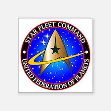 "Star Fleet Command Square Sticker 3"" x 3"""