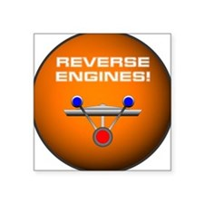"reverse engines.png Square Sticker 3"" x 3"""