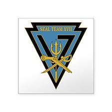 "SEAL Team 17 Square Sticker 3"" x 3"""