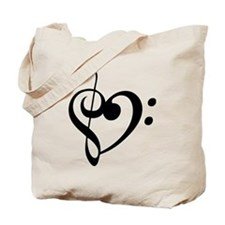 Treble Heart Tote Bag
