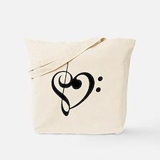 Treble Heart Tote Bag