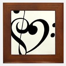 Treble Heart Framed Tile
