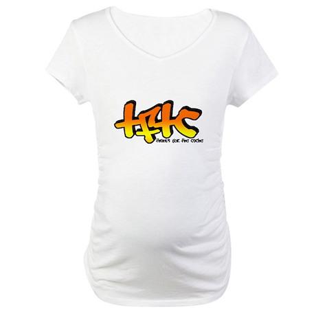 TFTC Orange Maternity T-Shirt