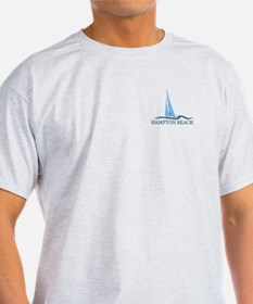 Hampton Beach NH - Sailboat Design. T-Shirt