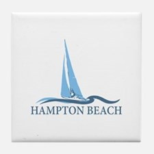 Hampton Beach NH - Sailboat Design. Tile Coaster