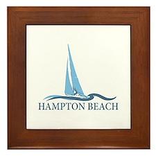 Hampton Beach NH - Sailboat Design. Framed Tile