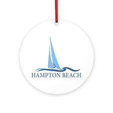 Hampton Beach NH - Sailboat Design. Ornament (Roun
