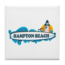 Hampton Beach NH - Surf Design. Tile Coaster