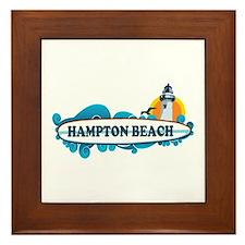 Hampton Beach NH - Surf Design. Framed Tile