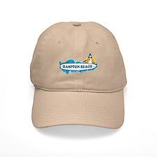 Hampton Beach NH - Surf Design. Baseball Cap