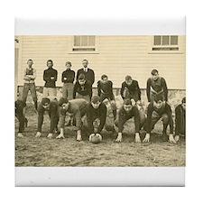 Vintage Football Team Real photo Postcard Tile Coa