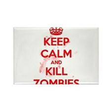 Keep Calm and Kill Zombies Rectangle Magnet
