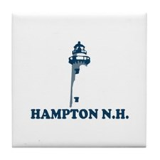 Hampton Beach NH - Lighthouse Design. Tile Coaster