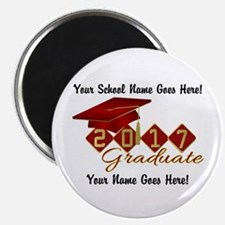 Graduate 2017 Red Gold Magnets