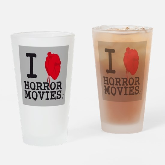 I <3 Horror Movies Drinking Glass