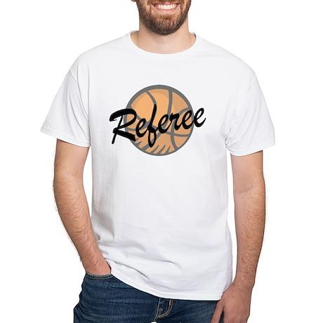 Basketball Ref White T-Shirt